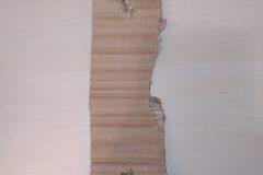 Bout de carton rectangulaire